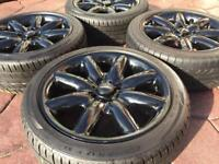 "Genuine 17"" BMW Mini Cooper S 8 Spoke Crown JCW Refurbished Alloy wheel & tyres 6-7mm"