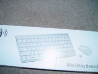 wireless keyboard bundle black mini in box