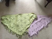 suede effect shawls