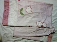 """NEXT 66"""" * 54"""" Pink/Pastel/Floral LINED CURTAINS in excellent condition (Girls Bedroom)"""