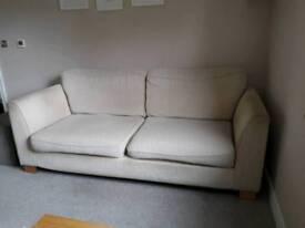 Cream double sofa