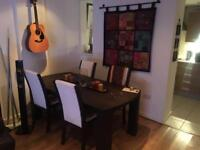 Mahogany / Oak Dinning Table and 4 Chairs