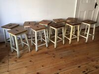 Lovely Old Hard Wood School / Kitchen / Lab Stools 10 Available