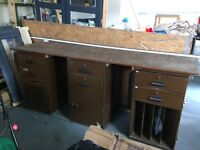 1906 Original Post office counter and cabinets