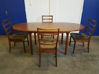 McINTOSH TEAK EXTENDING DINING TABLE & 4 CHAIRS RETRO WOODEN SET MADE IN SCOTLAND DELIVERY AVAILABLE