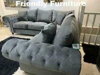 Luxury grey corner sofa