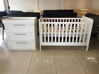 Brand new Mamas and Papas Cot Bed and Chest of drawers
