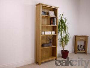 Nebraska Modern Oak Tall Bookcase / Light Oak Large Storage