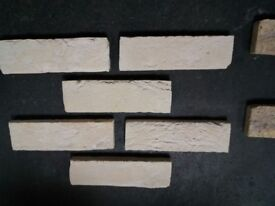 Brick slips: Barock; yellow/white/violet/red flamed color ref 431/433 WDF, Hand moulding