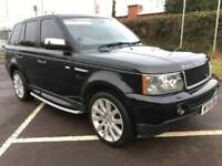 LAND ROVER RANGE ROVER SPORT 3.6 TDV8 SPORT HSE 5d AUTO 270 BHP LOW MILEAGE, FULL BLACK LEATHER 2008