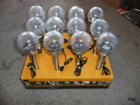 SOLAR MINI ICE ORB BORDER LIGHTS BOX OF 12 NEW see details