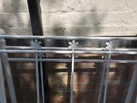 Girls White Metal frame single bed + mattress