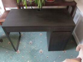 Black IKEA PC Desk