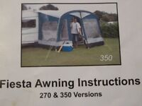 Kampa 350 awning. Good condition. Complete.