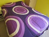 Reversible Comforter for Twin or X-Long Twin bed, also sheets