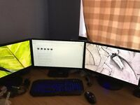 2 x Gaming Rigs & Accessories inc 4 Monitors, Printer and Speakers - All good spec and working