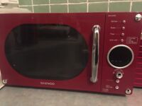 Red DAEWOO Microwave Oven - excellent condition