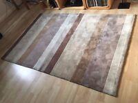 Lovely living room stripe pattern rug