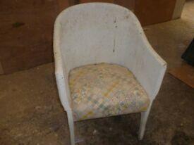 LLoyd loom cane chair in need of re-furbishing.