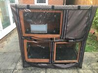 Double story Rabbit Hutch good condition with cover ( new this year ) with accessories