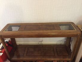 Mint Condition solid teak console table