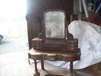 Ornate dressing table for restoration repair or shabby chic