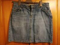Fat face Denim Skirt size 12
