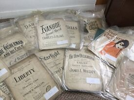 Job lot of beautiful vintage Antique song sheets
