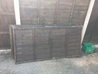 Used fence panels 6x3