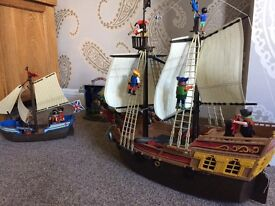 Playmobil Pirate ship bundle.