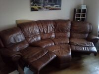 Leather soffa (brown) goog used condition