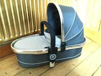 Icandy Peach carrycot 'truffle' & car seat adapters