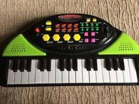 Childs mini electronic keyboard