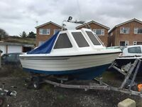 Warrior 150 , fishing boat for sale , trailer & electrics