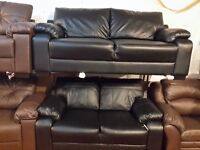 3+2 EX CATALOG SOFA IN HIGH QUALITY PU RRP £1000 TO CLEAR PRICE £299 SLIGHT MARK