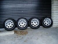 4 x Alloy Wheels with Gislavad winter grip tyres