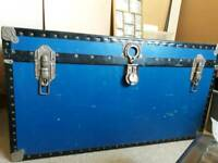 Vintage/antique large blue travel trunk