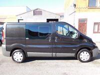 Finance me from £7.51 per day Vauxhall Vivaro swb Factory 6 seat crew van with sat nav & aircon (2)