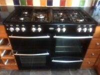 Belling 100cm Dual Fuel Oven & Grill Range Cooker Black