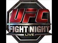 2x UFC fight night tickets