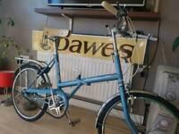 1972 retro Raleigh Stowaway Folding bike