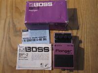 Boss Flanger BF-2 Black backplate rare Japan 1980's GREAT CONDITION