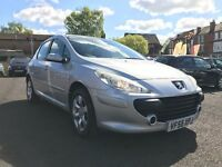 2006 PEUGEOT 307 1.6 HDI *** 10 MONTHS MOT + FULL SERVICE HISTORY + DIESEL + ONLY 95000 MILES**