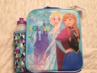 Girls Frozen Lunch with drinks bottle brand new with tags - Back to School