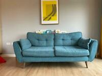 DFS French Connection Zinc 3-seat Sofa