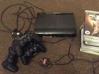 PS3 with 3 controllers and 13games