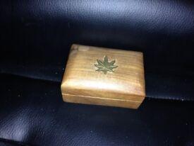 Trinket box tiny Canadian unique