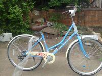 """New Dawes Roses Baby Blue 17"""" Heritage Hybrid Bike Low Step Girls Ladies RRP £349"""