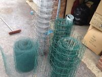 Various types of wire fencing