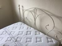 King size bed, frame and mattress